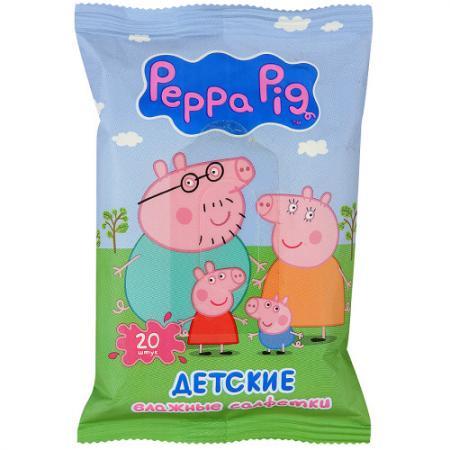 Салфетки влажные Авангард Peppa Pig 20 шт не содержит спирта ароматизированная влажная 4620016300381 влажные салфетки peppa pig влажные салфетки mix