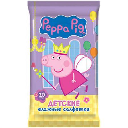 Салфетки влажные Peppa Pig Peppa Pig 20 шт не содержит спирта влажная 30161 30x21 metal folding portable hand held jewelry identification magnifying glass