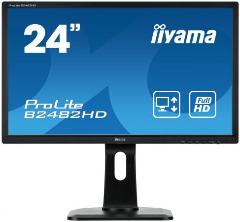 Монитор 24 iiYama ProLite B2482HD-B1 черный TN 1920x1080 250 cd/m^2 5 ms VGA DVI-D купить