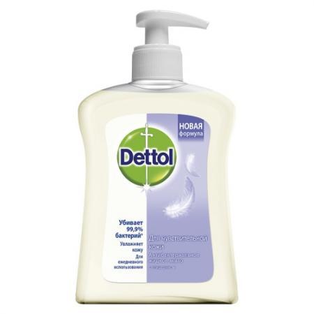 DETTOL Антибакт.жидк. мыло для рук для чувствительной кожи с глицерином 250 мл dettol мыло жидкое для рук с глицерином антибактериальное