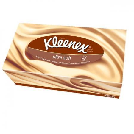 Салфетки Kleenex Ultrasoft 56 шт 3-ех слойная 3213365 от Just.ru