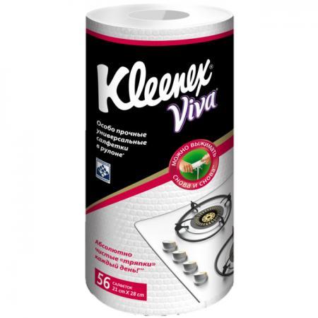 Салфетки Kleenex Viva 56 шт без отдушки 9460200 от Just.ru