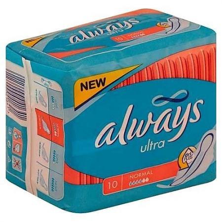 Прокладки впитывающие Always Ultra Normal Single 10 шт AL-83715780S always ultra light quatro al 83734556 36шт