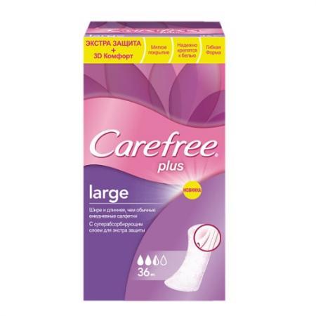Салфетки Carefree plus Large 36 шт без отдушки 80172 carefree салфетки plus large 36 шт