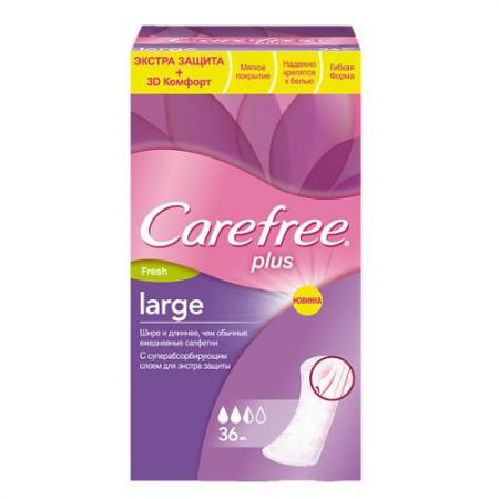 Салфетки Carefree plus Large Fresh 36 шт ароматизированная 80173 carefree салфетки plus large 36 шт