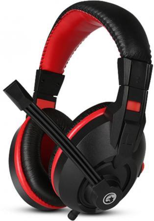 Игровая гарнитура проводная Marvo H8321 черный красный игровая гарнитура проводная marvo h8319 черный