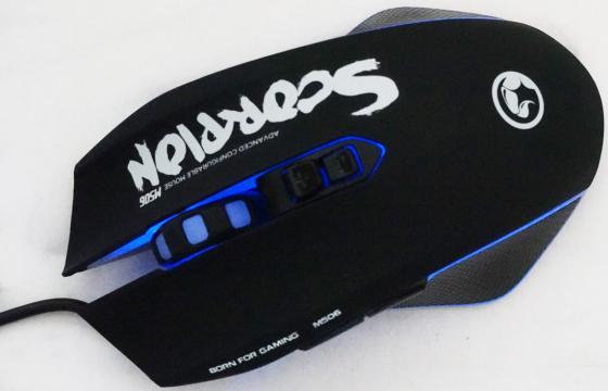 Мышь проводная Marvo M506WT чёрный белый USB цена и фото