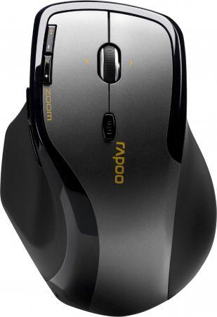 Мышь беспроводная Rapoo 7600 Plus серый USB 16990 мышь rapoo 3300p plus black usb