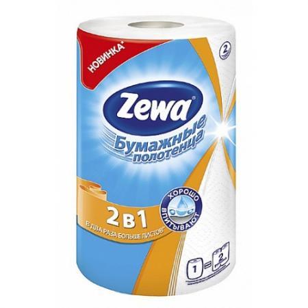 Полотенца бумажные Zewa 144111 1 шт 2-ух слойная без отдушки от Just.ru