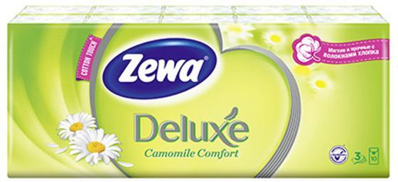 Платочки носовые Zewa Делюкс 10 шт 3-ех слойная ароматизированная носовые платки zewa delux 60 шт