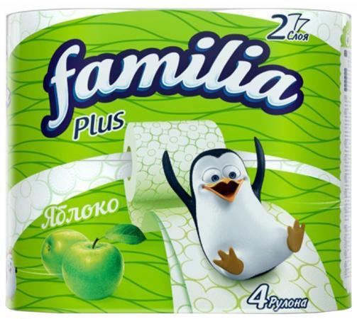 Бумага туалетная Familia Яблоко 4 шт 2-ух слойная ароматизированная