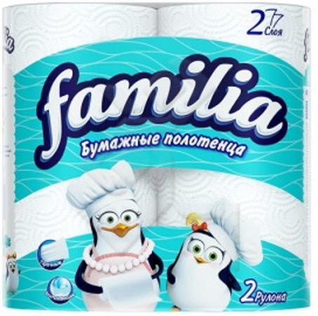 Полотенца бумажные Familia 2 шт 2-ух слойная без отдушки