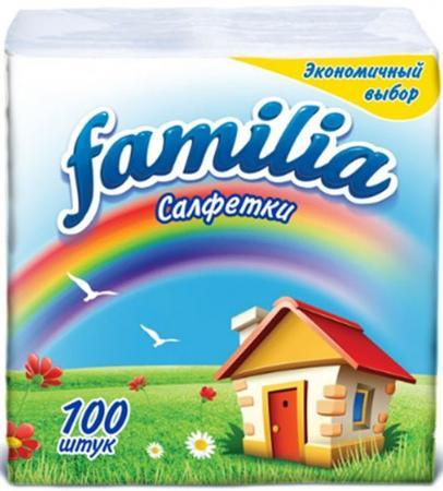 Салфетки бумажные Familia Радуга 100 шт без отдушки от Just.ru