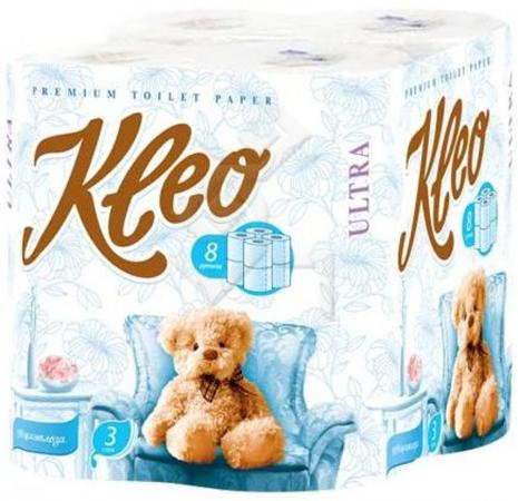 Бумага туалетная Мягкий Знак Kleo Ultra 8 шт 3-ех слойная без отдушки туалетная бумага анекдоты ч 8 мини 815605