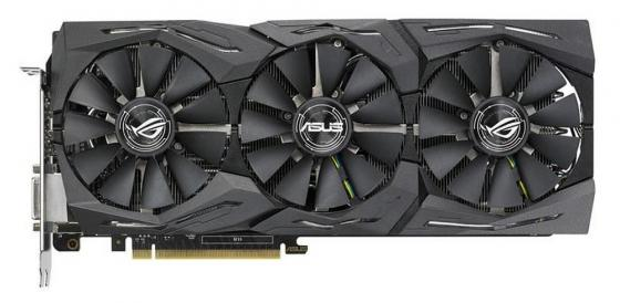 Видеокарта 11264Mb ASUS GeForce GTX1080 TI PCI- 352bit GDDR5X DVI HDMI DP HDCP ROG-STRIX-GTX1080TI-11G-GAMING Retail