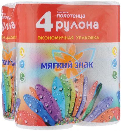 Полотенца бумажные Мягкий Знак Deluxe 4 шт 2-ух слойная бумага туалетная мягкий знак буквы 4 шт 2 ух слойная без отдушки