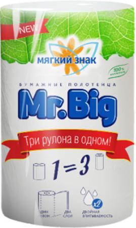 Полотенца бумажные Мягкий Знак Mr.Big 1 шт без отдушки 2-ух слойная от Just.ru