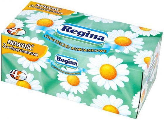 Салфетки бумажные Regina Ромашка 120 шт 4-ех слойная ароматизированная от Just.ru