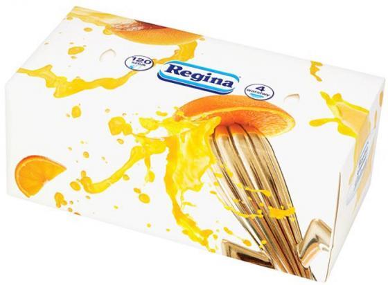 Салфетки бумажные Regina Деликатис 120 шт 4-ех слойная ароматизированная туалетная бумага regina деликатис