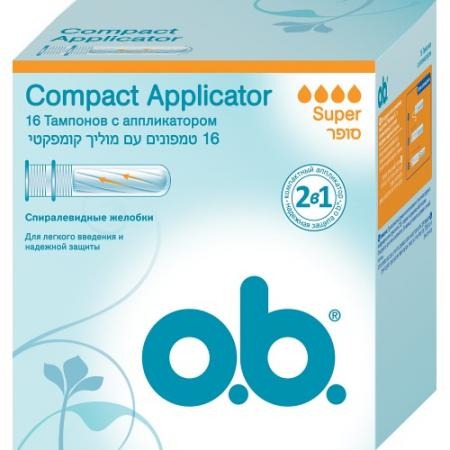 Фото - Тампоны o.b. Compact Applicator Super 16 шт 83569 micro camera compact telephoto camera bag black olive