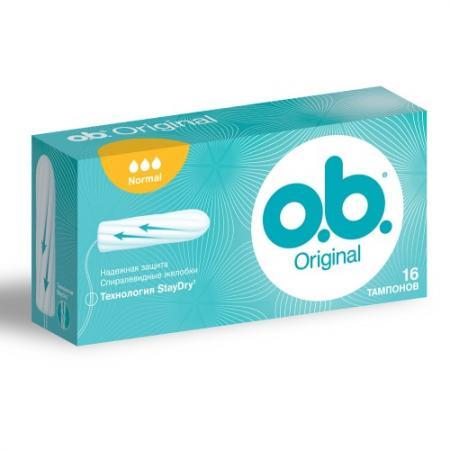 "Тампоны o.b. ""Original нормал"" 16 шт 79601 цены"