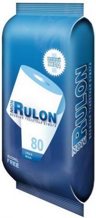 Влажная туалетная бумага Mon Rulon 80 шт не содержит спирта гипоаллергенные