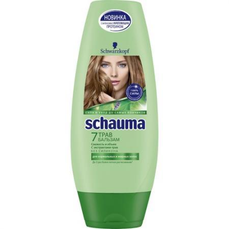 Бальзам Schauma 7 Трав 200 мл vichy бальзам для губ aqualia thermal 4 7 мл бальзам для губ aqualia thermal 4 7 мл 4 7 мл