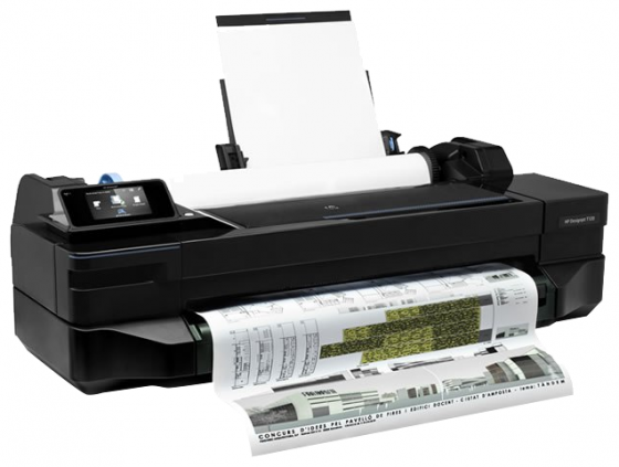 Плоттер HP Designjet T120 CQ891C 24 A1 256Mb 600x600dpi Ethernet Wi-Fi USB hp designjet t120