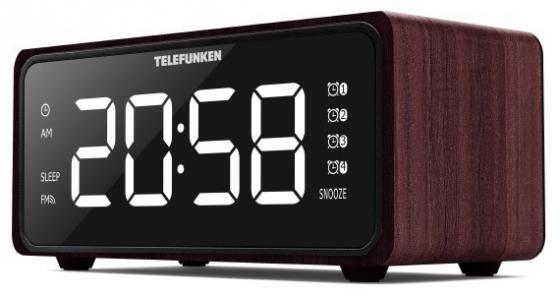 Радиобудильник Telefunken TF-1586 красное дерево радиобудильник uniel utp 49ykx