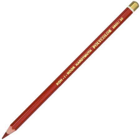 Карандаш художественный POLYCOLOR, красно-коричневая карандаш художественный polycolor красно оранжевый