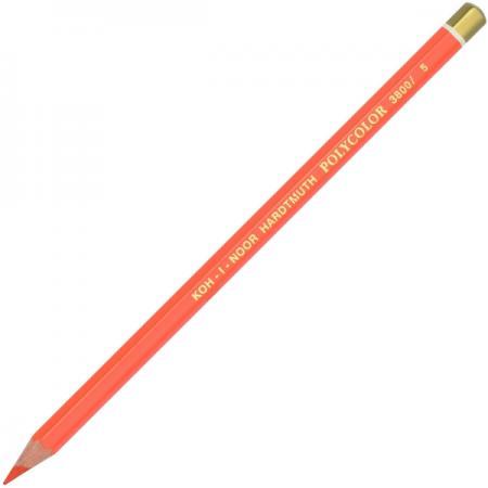 Карандаш художественный POLYCOLOR, красно-оранжевый карандаш художественный polycolor красно оранжевый