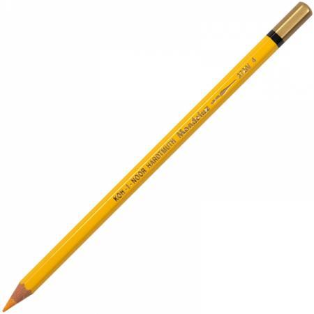 Карандаш цветной Koh-i-Noor MONDELUZ, темно-желтый 175 мм акварельные 3720/04 карандаш цветной koh i noor 4398 4398