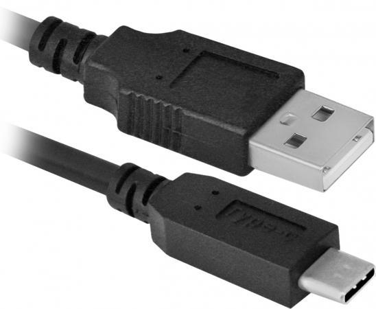 Кабель Type-C 1м Defender USB09-03 круглый черный 87490 кабель lightning 1м wiiix круглый cb120 u8 10b