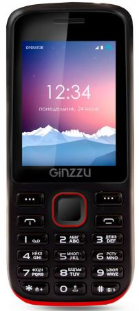 Мобильный телефон GINZZU M201 черный красный 2.4 мобильный телефон ginzzu r 62