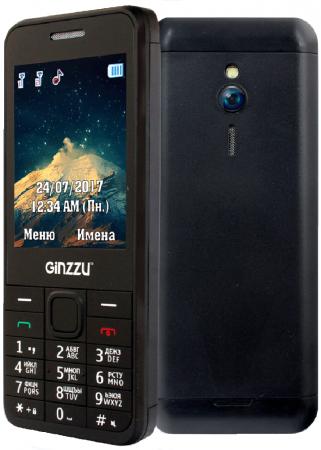 Мобильный телефон GINZZU M108D черный 2.8 мобильный телефон ginzzu r 62