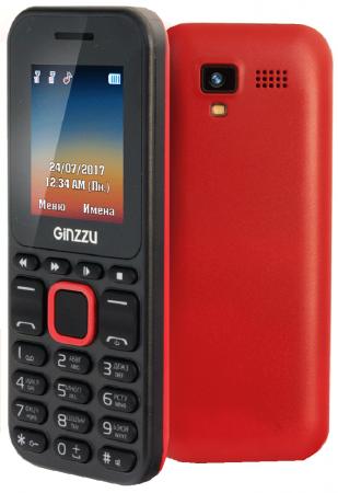 Телефон GINZZU M102D mini черный красный 1.8 телефон