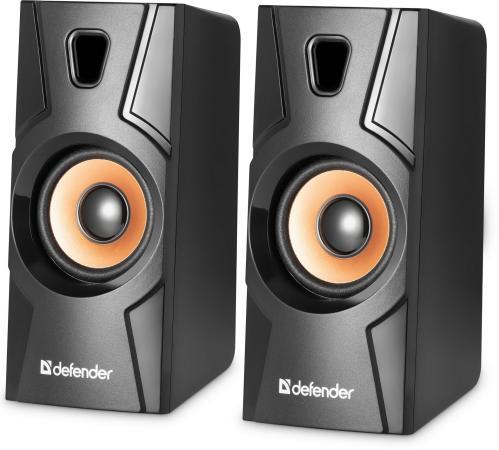 Колонки DEFENDER Aurora S8 2x4Вт черный 65408 акустическая система 2 0 defender aurora s8 65408