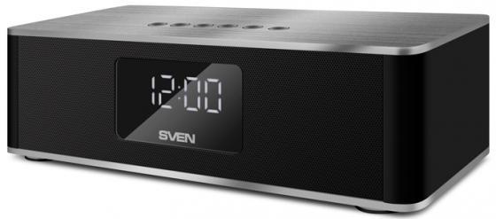купить Портативная акустика Sven PS-190 10Вт Bluetooth черный серебристый онлайн