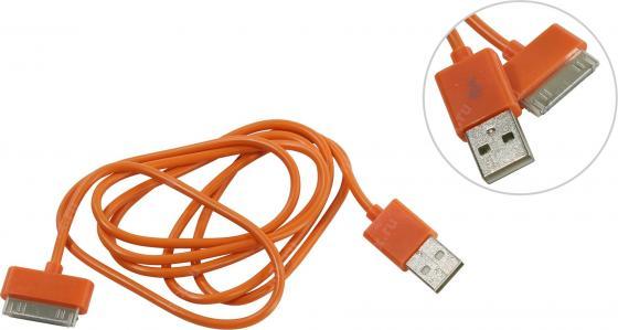 Кабель 30 pin 1.2м Smart Buy iK-412c круглый оранжевый цена и фото