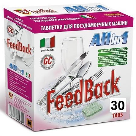 FeedBack Таблетки для посудомоечных машин ALL in 1 30 шт кеторол 10мг 20 таблетки