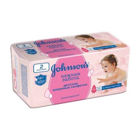 Johnsons baby салфетки Нежная забота 128шт прокладки и салфетки johnson s baby влажные салфетки johnsons baby нежная забота 256 шт