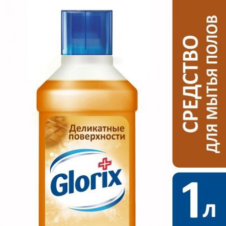 GLORIX Чистящее средство для пола Деликатные поверхности 1л glorix чистящее средство для пола свежесть атлантики 1л