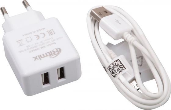 цена на Сетевое зарядное устройство Ritmix RM-2095AC 2А 2 х USB белый