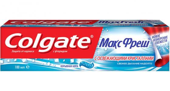 Зубная паста Colgate Макс Фреш Взрывная мята 100 мл FCN89271/FCN89015 colgate зубная паста total12 прополис 100 мл