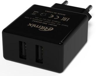 цена на Сетевое зарядное устройство Ritmix RM-2025AC 2А 2 х USB черный