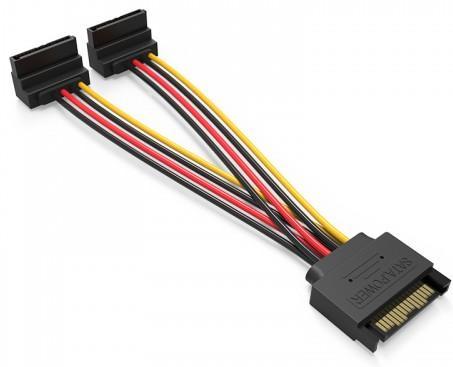 Кабель SATA - 2xSATA Vention KDBBB угол 90 кабель molex 4pin 2xsata f vention kdcbb угол 90