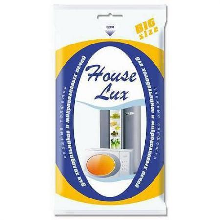 HOUSE LUX Салфетки влажные для холодильников и микроволновых печей BigSiz 30шт house lux салфетки влажные универсальные антибактериальные 6в1 80шт
