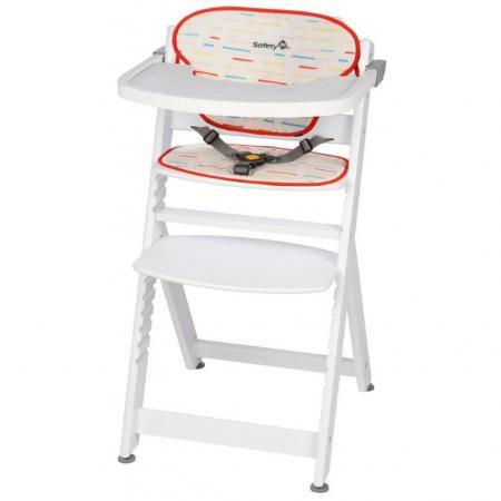 Стульчик для кормления Safety 1st Timba with Tray and Cushion (red lines/white wood) стульчик для кормления safety1st timba with tray and cushion red lines