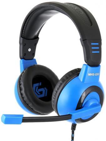 Игровая гарнитура проводная Gembird MHS-G50 черный синий все цены