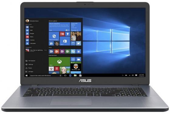Ноутбук ASUS X705UV-BX207T 17.3 1600x900 Intel Pentium-4405U 1 Tb 8Gb nVidia GeForce GT 920MX 2048 Мб серый Windows 10 Home 90NB0EW2-M03000 ноутбук lenovo ideapad 320 17ikb 17 3 1600x900 intel core i3 7100u 500 gb 8gb nvidia geforce gt 920mx 2048 мб серебристый windows 10 home